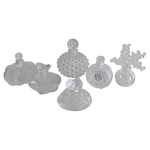 Lalique Perfume Bottles, S/6