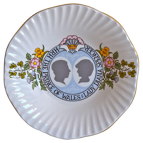 Prince Charles & Lady Diana Trinket Dish