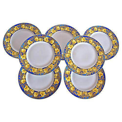 Lalique Coquelicots Limoges Plates, S/7