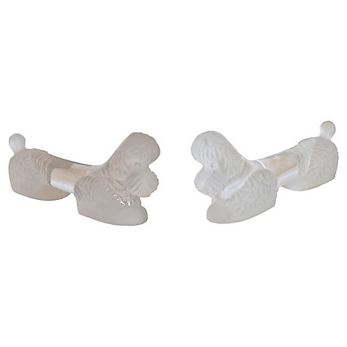 French Poodle Knife Rests, Pair