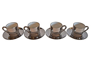 Georg Jensen Demi Cups & Saucers, 8-Pcs*