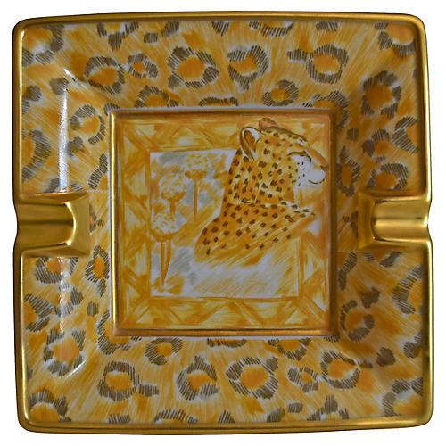 Escada Gilded French Leopard Ashtray