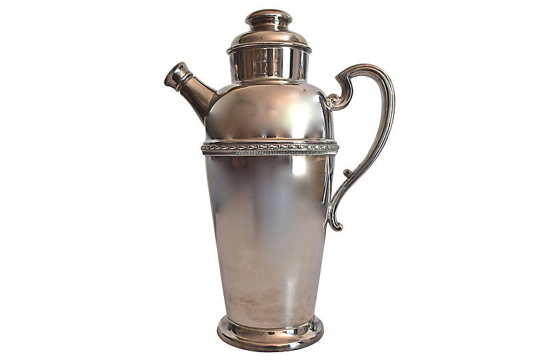 Silver-Plate Cocktail Shaker