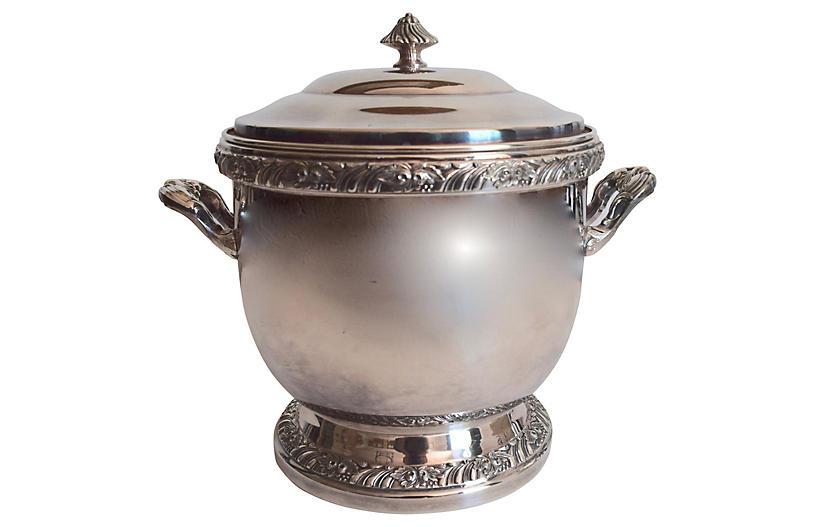 Silver-Plate Ice Bucket