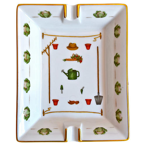 Hermès Gardening Theme Ashtray