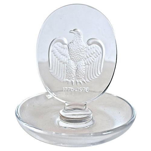 Lalique Crystal Eagle Pin Tray