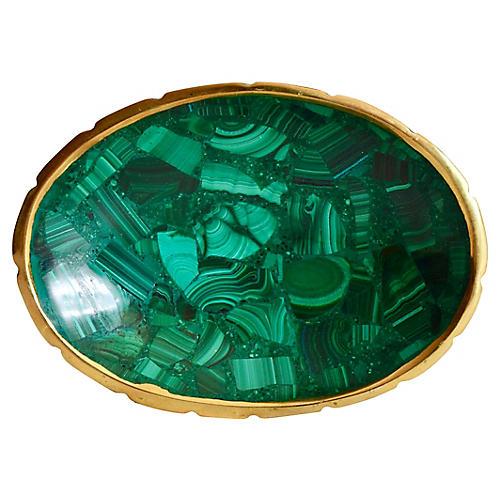 Oval Malachite Dish
