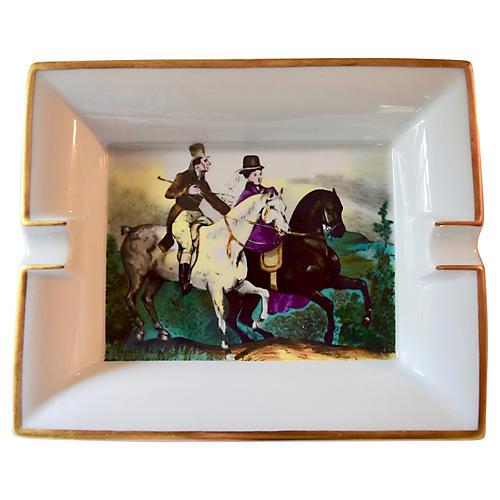 Hermès Classic Equestrian Scene Ashtray
