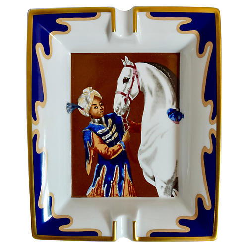 Hermès White Horse/Turban Boy Ashtray
