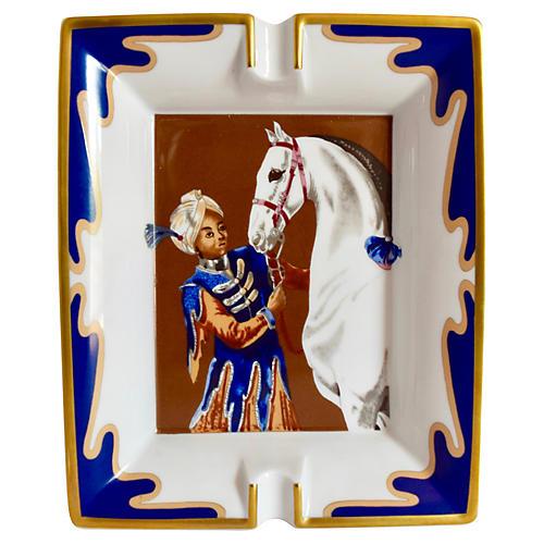 Hermès White Horse/Turban Boy Ashtray