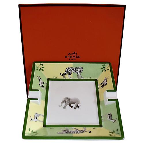 Hermès African Animals Cigar Ashtray