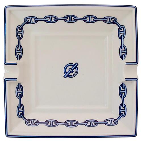 Hermès Chaîne d'Ancre Porcelain Ashtray
