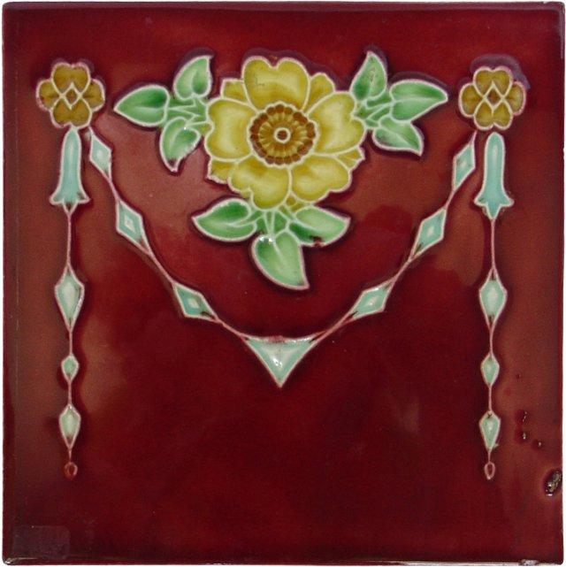 19th-C. Decorative Tile