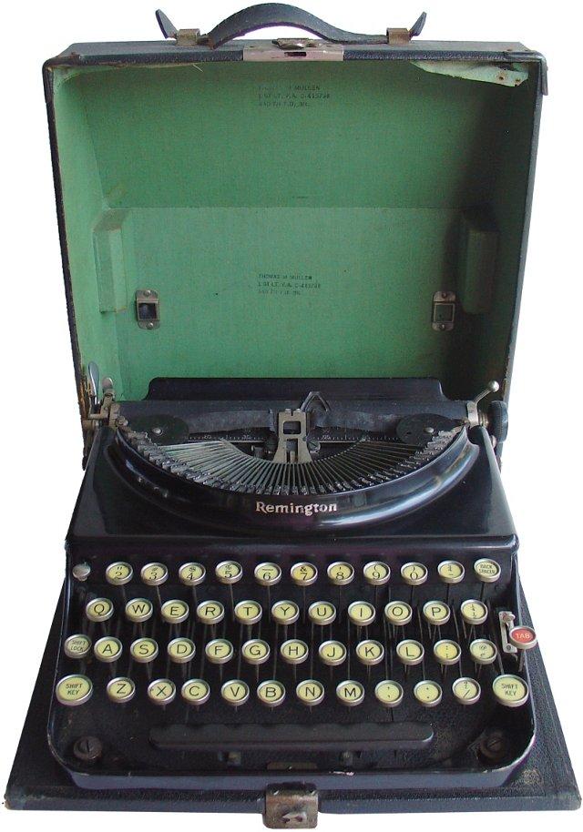 Remington Typewriter,  1928