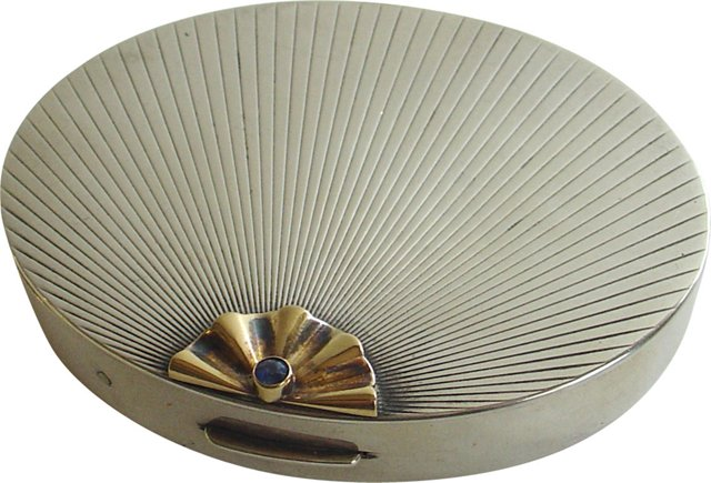 Tiffany Silver, Gold & Sapphire Compact