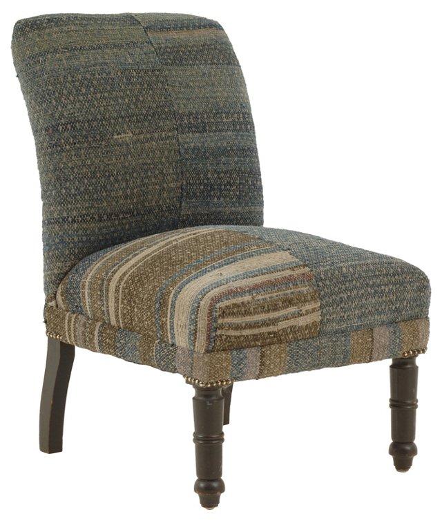 Antique Indigo Chair