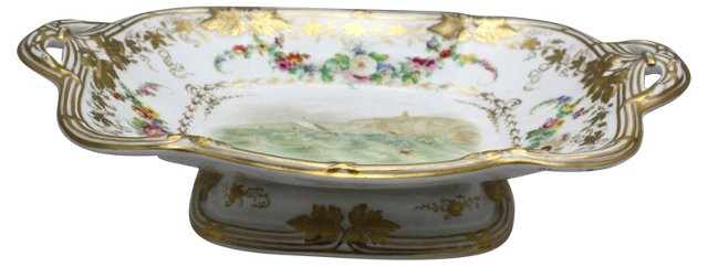 Davenport Hand-Painted Compote