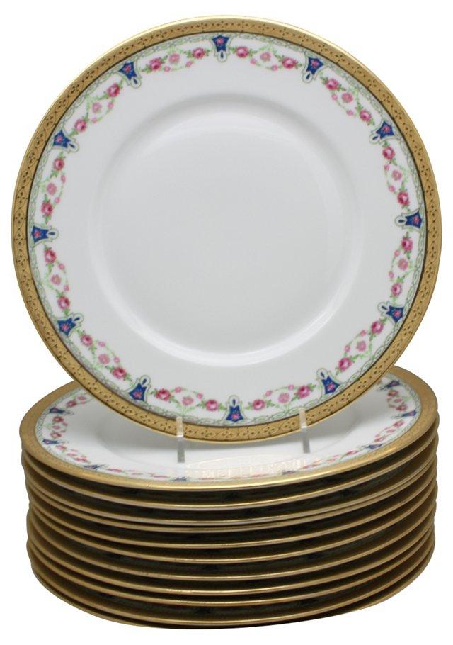 Limoges  Dessert Plates, S/12