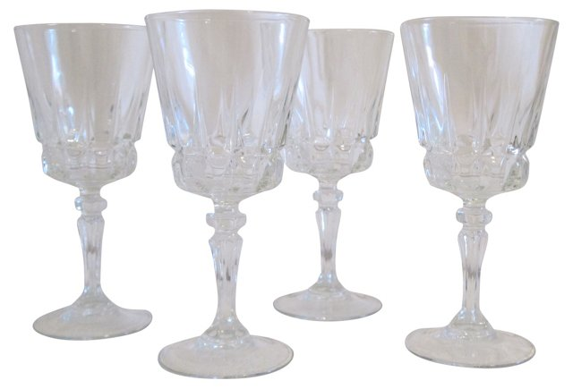 Crystal Glasses, Set of 4