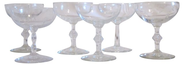 Champagne Coupes, Set of 6