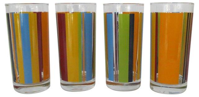 Midcentury Drinking Glasses, Set of 4