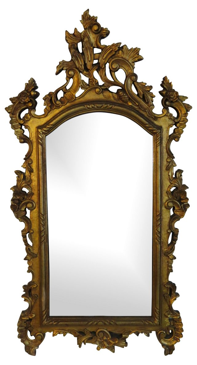 Baroque-Style Giltwood  Mirror