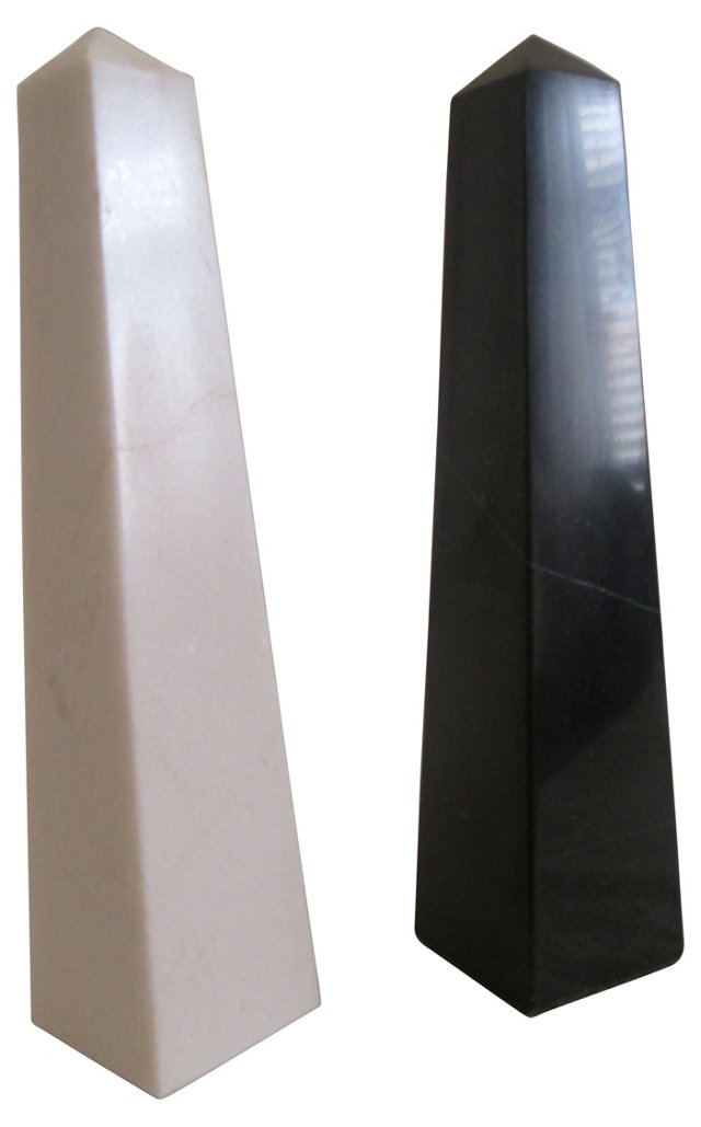 Night & Day Onyx Obelisks, Pair