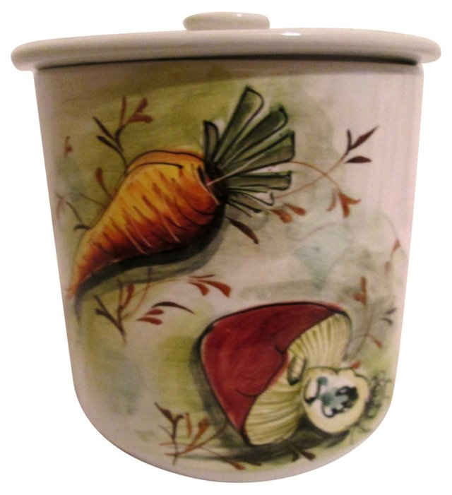 Italian Hand-Painted Canister