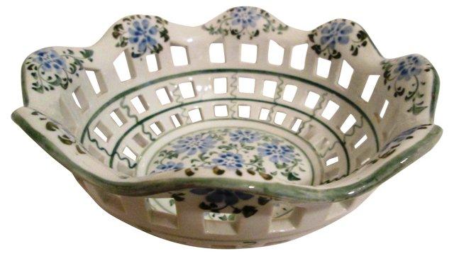 White Lattice Basket