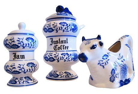 Delft Blue Breakfast Set, 3-Pcs