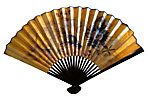 Chinese Gold Imperial Dragon Fan