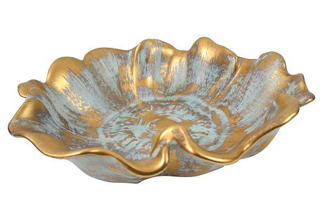 1950s Stangl Gilt Flower Bowl