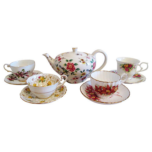 English Garden Tea Set, 9-Pcs