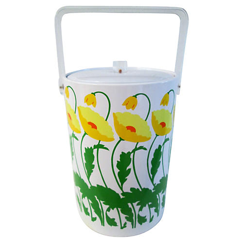 Yellow Poppies Ice Bucket
