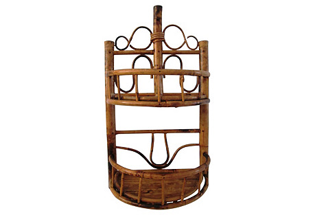 Bamboo & Rattan Two-Tier Hanging