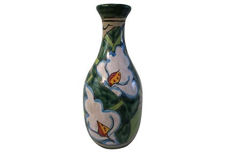 Mexican Talavera Lily Pottery Vase