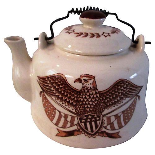 Americana Eagle Ceramic Teapot