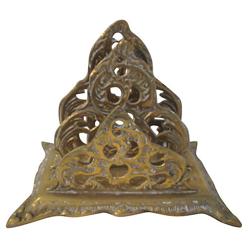 Art Nouveau Brass Letter Holder