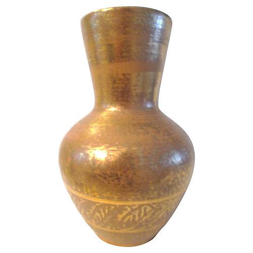 1970s Granada Gold Pottery Vase