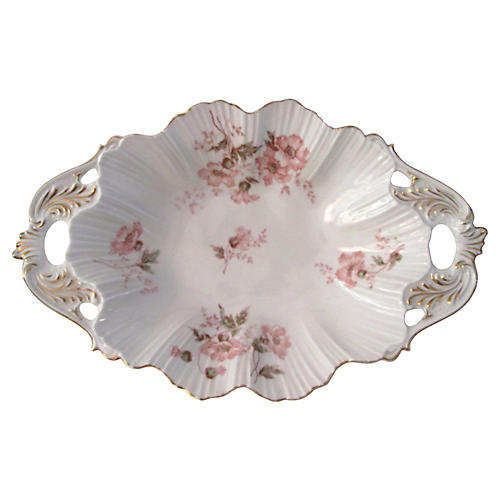 Austrian Gold-Gilt Floral Serving Bowl