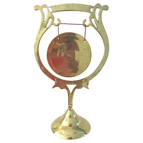 Etched Brass Table Gong