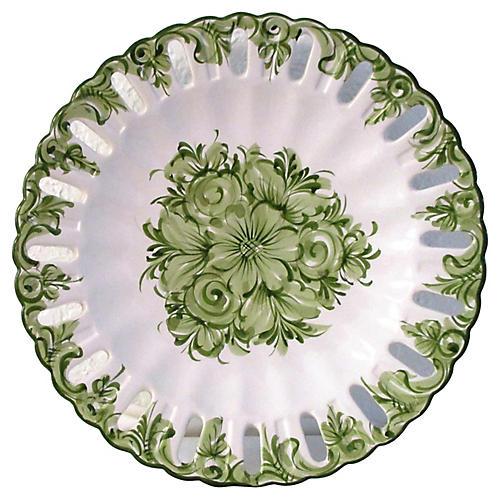 Portuguese Floral Serving Plate