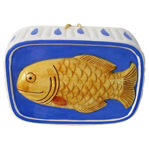 1980s Ceramic Hanging Fish Mold