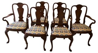 Nice Antique Queen Anne Style Chairs, S/6   Dining Chair Sets   Dining Chairs    Dining Room   Furniture | One Kings Lane