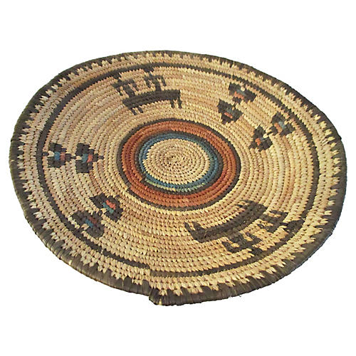 African Coiled Basket