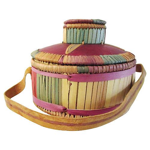 Kenyan Handled Gourd Basket