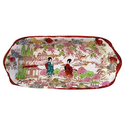 Japanese Hand-Painted Geisha Tray