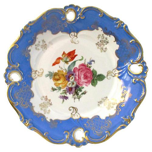 German Blue Shallow Bowl