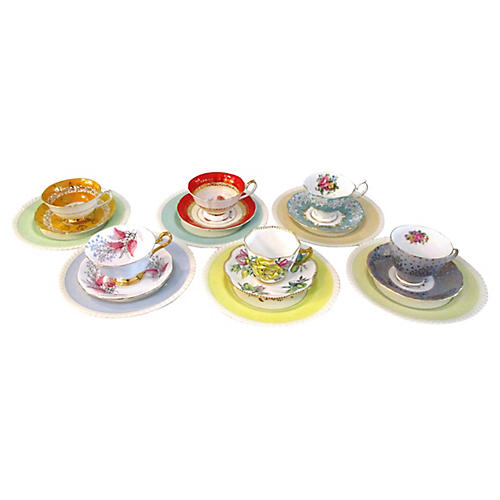 English Garden Tea Set, Svc for 6