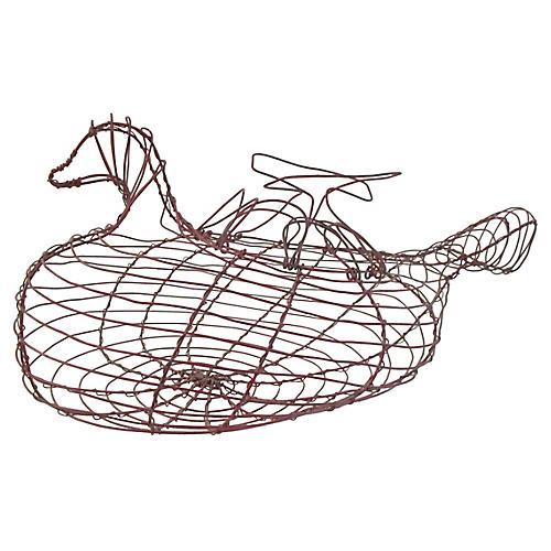 Wire Goose Egg Basket